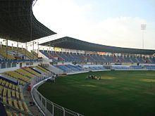 The Nehru Stadium in Fatorda, Goa